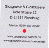 10 % Rabatt auf Ware bei Glasgravur und Glasbläserei - post image