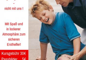 25% Auf einen Erste-Hilfe Kurs oder Erste-Hilfe am Kind Kurs